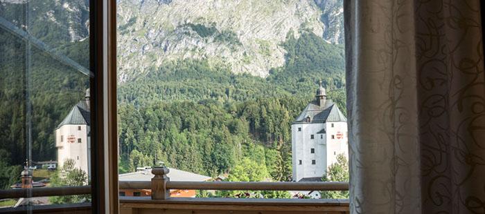 Mariasteinerhof Zimmer Enzian Terrasse
