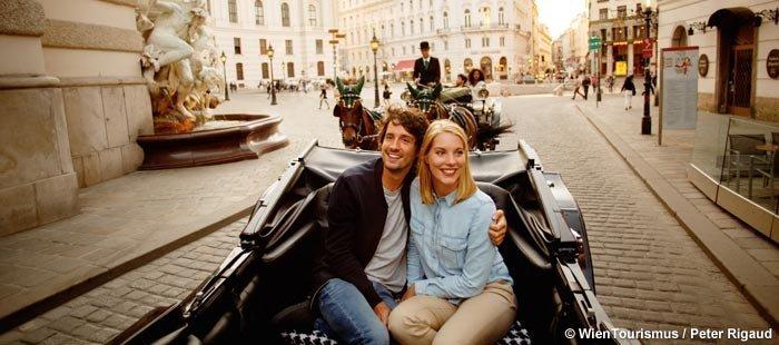 Wien Paar Im Fiaker
