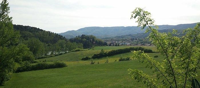 Toskana Mugello Panorama Wiese