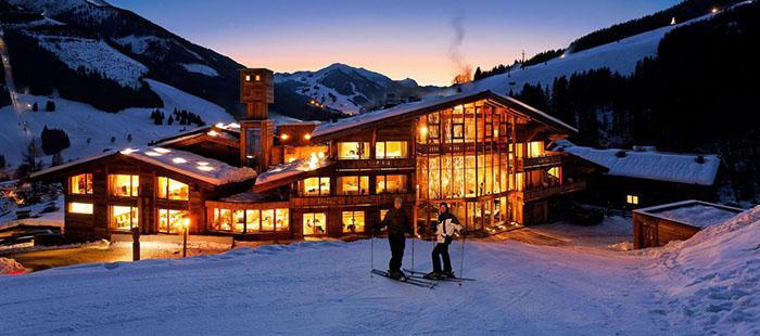 Hinterhag Hotel Winter Abend