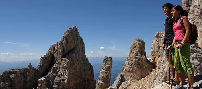Fiemme Klettern Aussicht