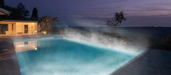 Barronci Pool Abend